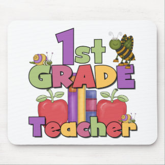 Bugs and Apples 1st Grade Mouse Pad
