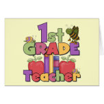 Bugs and Apples 1st Grade Tshirts and Gifts Cards