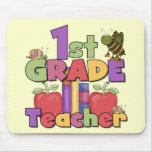 Bugs and Apples 1st Grade Tshirts and Gifts Mouse Pad