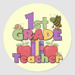Bugs and Apples 1st Grade Tshirts and Gifts Stickers