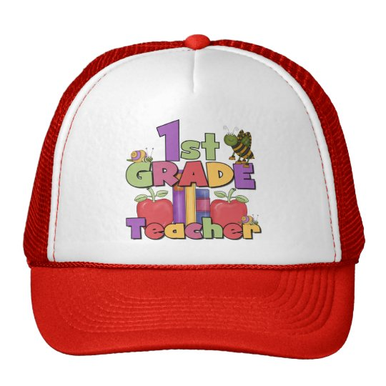 Bugs and Apples 1st Grade Tshirts and Gifts Trucker Hat