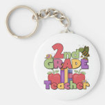 Bugs and Apples 2nd Grade Basic Round Button Keychain