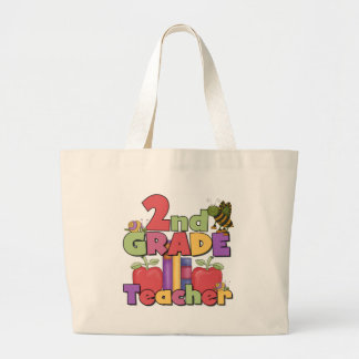 Bugs and Apples 2nd Grade Large Tote Bag