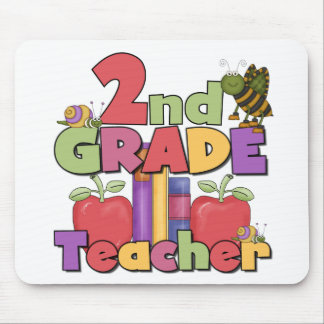 Bugs and Apples 2nd Grade Tshirts and gifts Mouse Pad