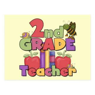 Bugs and Apples 2nd Grade Tshirts and gifts Postcard