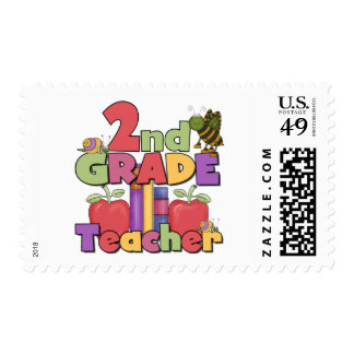 Bugs and Apples 2nd Grade Tshirts and gifts Stamp