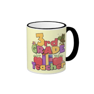 Bugs and Apples 3rd Grade Tshirts and Gift Ringer Coffee Mug