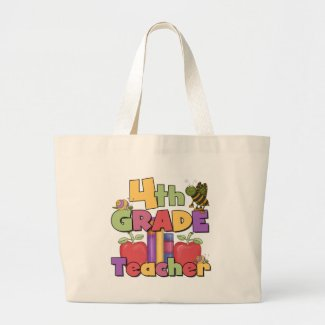 Bugs and Apples 4th Grade Tshirts and Gifts bag
