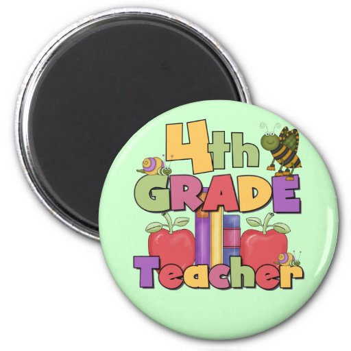 Bugs and Apples 4th Grade Tshirts and Gifts Fridge Magnet