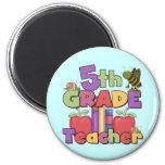 Bugs and Apples 5th Grade Teacher Fridge Magnets
