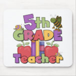 Bugs and Apples 5th Grade Teacher Mouse Pad