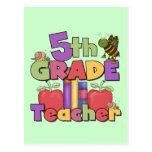 Bugs and Apples 5th Grade Teacher Post Cards
