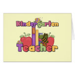 Bugs and Apples Kindergarten Teacher Greeting Card