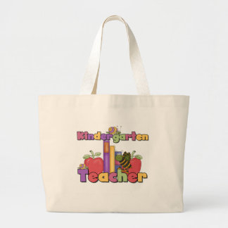 Bugs and Apples Kindergarten Teacher Large Tote Bag