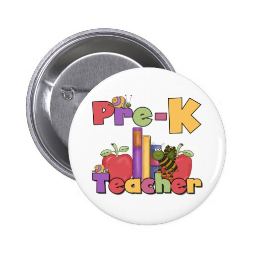 Bugs and Apples Pre-K Teacher Button