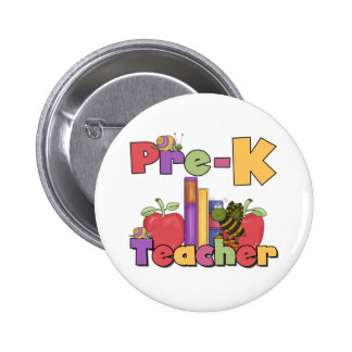 Bugs and Apples Pre-K Teacher Pinback Button