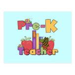 Bugs and Apples Pre-K Teacher Post Card