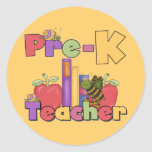 Bugs and Apples Pre-K Teacher Stickers