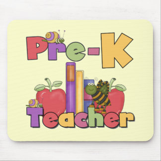 Bugs and Apples Pre-K Teacher Tshirts and Gifts Mouse Pad