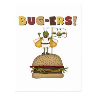 Bugs and Burgers Tshirts and Gifts Postcards