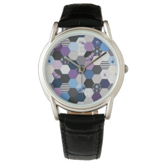 Bugs and Hexagons Wristwatches