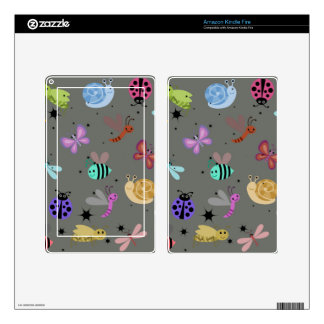 Bugs and insects decal for kindle fire
