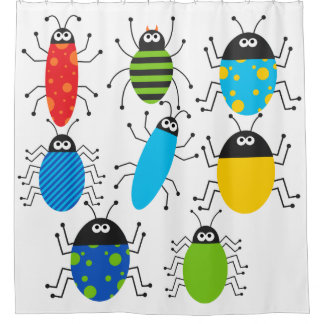 Bugs and More Bugs Insects Shower Curtain