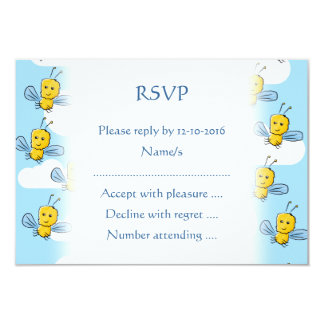 Bugs and Sky Pattern 3.5x5 Paper Invitation Card