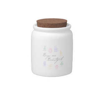 Bugs are Beautiful Candy Jar