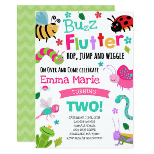 Bugs Birthday Invitation Girl Pink Party