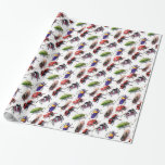 bugs bugs crawling everywhere gift wrap paper