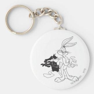 Bugs Bunny and Daffy Duck Keychain