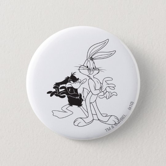 BUGS BUNNY™ and DAFFY DUCK™ Pinback Button
