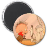 BUGS BUNNY™ and Elmer Fudd 2 2 Inch Round Magnet