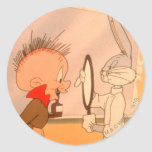BUGS BUNNY™ and Elmer Fudd 2 Classic Round Sticker