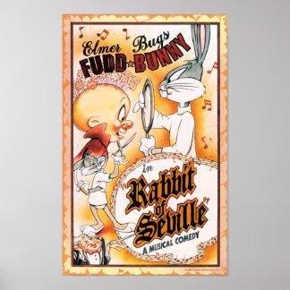 BUGS BUNNY™ and ELMER FUDD™ Musical Poster