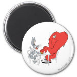 BUGS BUNNY™ and Gossamer 2 2 Inch Round Magnet