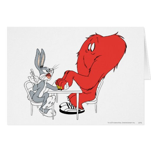 Bugs Bunny and Gossamer 2 Greeting Cards