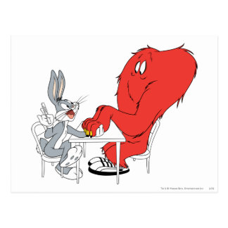BUGS BUNNY™ and Gossamer 2 Postcard