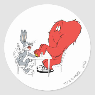 BUGS BUNNY™ and Gossamer 2 Classic Round Sticker