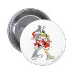 BUGS BUNNY™ and Lola Mistletoe Kiss Pinback Button