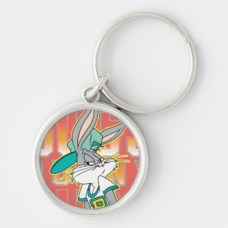 BUGS BUNNY™ Cool School Outfit Silver-Colored Round Keychain