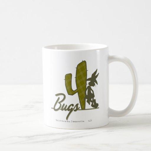 BUGS BUNNY™ Cowboy Leaning on Cactus Classic White Coffee Mug