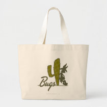 BUGS BUNNY™ Cowboy Leaning on Cactus Large Tote Bag