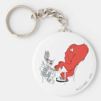 Bugs Bunny e hilo de araña 2 Llaveros Personalizados