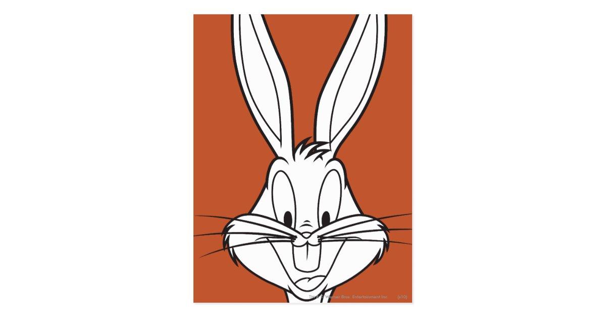 Bugs Bunny Face Smiling Postcard Zazzle Com