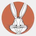 Bugs Bunny hace frente a sonrisa Etiqueta Redonda