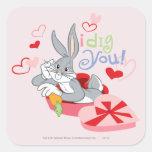 BUGS BUNNY™ I Dig You! Square Sticker