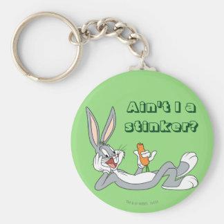 BUGS BUNNY™ Lying Down Eating Carrot Keychain