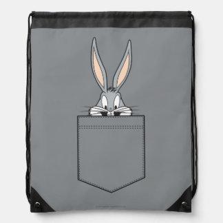BUGS BUNNY™ Peeking Out Of Pocket Drawstring Bag